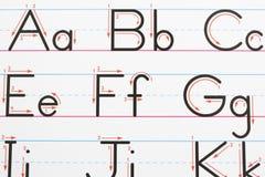страница почерка Стоковые Фотографии RF