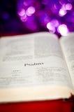Страница псалмов стоковые фотографии rf