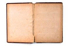 страница пустой книги старая Стоковая Фотография