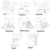 страница расцветки алфавита иллюстрация вектора