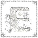 Страница расцветки алфавита Стоковое Фото