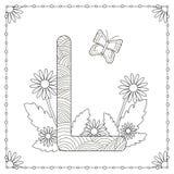Страница расцветки алфавита Стоковое Изображение