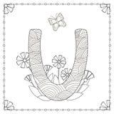 Страница расцветки алфавита Стоковые Изображения RF