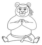 Страница расцветки белизна вектора панды предпосылки изолированная собранием также вектор иллюстрации притяжки corel Стоковая Фотография RF
