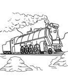 Страница расцветки поезда бесплатная иллюстрация