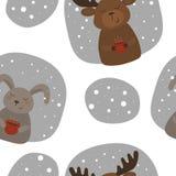 Страница расцветки рождества с Санта Клаусом, подарочными коробками Стоковые Фото