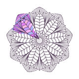 Страница расцветки с Mandala2 Стоковое Изображение RF