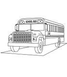 Страница расцветки школьного автобуса бесплатная иллюстрация