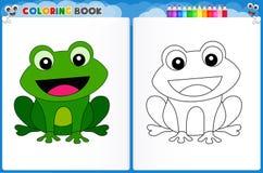 Страница расцветки лягушки бесплатная иллюстрация