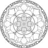 Страница расцветки Zentangle взрослая, мандала стоковые фотографии rf