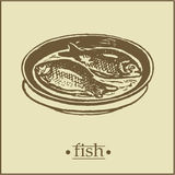 страница рыб menu2 Стоковое фото RF