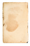 Страница старой книги, винтажная текстура, изолированная на белой предпосылке для Стоковые Изображения RF