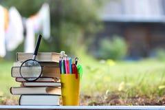 Страница стога книги Educaion внешняя Стоковая Фотография RF