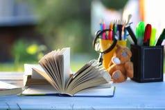 Страница стога учебника задней части Educaion внешняя Стоковая Фотография RF