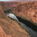 страница США тетради человека загиба Аризоны horseshoe стоковое фото
