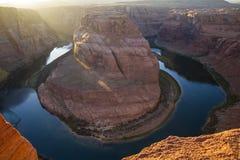страница США тетради человека загиба Аризоны horseshoe Стоковые Фотографии RF
