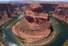 страница США тетради человека загиба Аризоны horseshoe стоковое фото rf