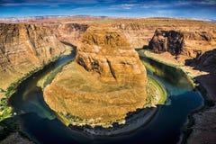 страница США тетради человека загиба Аризоны horseshoe стоковое изображение