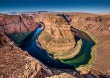 страница США тетради человека загиба Аризоны horseshoe Стоковые Изображения RF