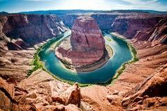 страница США тетради человека загиба Аризоны horseshoe Стоковое Изображение RF