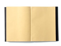 Страница тетради открытая пустая коричневая Стоковая Фотография RF