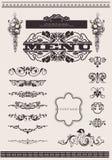 страница элементов конструкции украшения богато украшенный Стоковое Фото