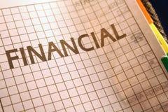 страница filofax финансовохозяйственная Стоковые Фотографии RF