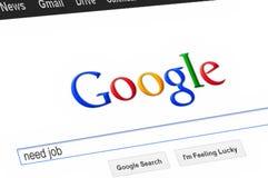 Страница Google Стоковая Фотография