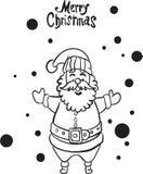 Страница santa веселого рождества счастливая крася иллюстрация штока