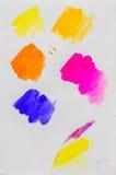 Страница Sketchbook, цвет и исследовать текстуры Стоковая Фотография RF