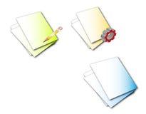 страницы иконы Стоковые Изображения RF
