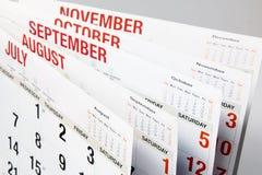 Страницы календара Стоковое Фото