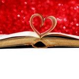 Страницы книги сердца форменные стоковое фото rf