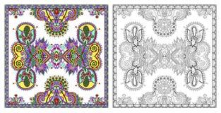 Страницы расцветки, книжка-раскраска для взрослых, подлинное desig ковра стоковые фото