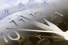 страницы часов календара Стоковая Фотография