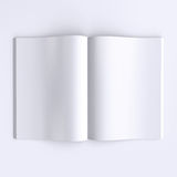 Страницы шаблона пустые открытого журнала, газет или книг Стоковая Фотография RF