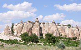 Странная горная порода, долина красной розы, Cappadoci Стоковые Фото