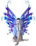 Странная фея в сини иллюстрация штока