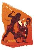 Странная часть гончарни от древней греции стоковое изображение