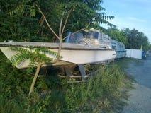 Странная яхта Стоковая Фотография