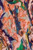 Странное применение пастелей масла Стоковое фото RF