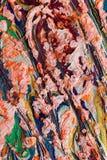 Странное применение пастелей масла Стоковые Фото