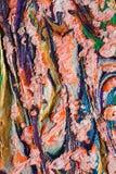 Странное применение пастелей масла Стоковые Изображения