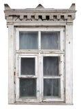 Странное разрушенное белое окно Стоковые Фотографии RF