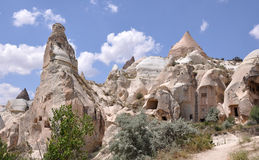 Странно выветренные утесы, долина красной розы, Cappadoci Стоковое фото RF
