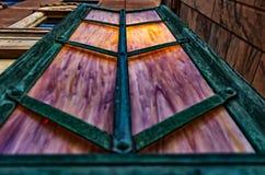 Странные светлые fixures на земле в Asheville, Северной Каролине, США Стоковая Фотография