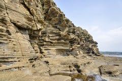 Странные утесы на пляже Yoengmeri в Jeju Стоковое Фото