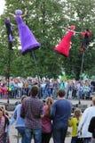 Странные художники плодоовощ (Австралии) танцуют Стоковое Фото