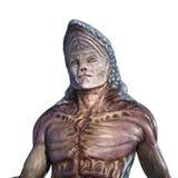 Странный портрет чужеземца - на белизне Стоковая Фотография RF