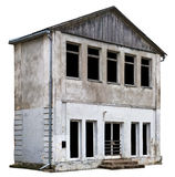 Странный рушась узкий 2-storeyed сарай Стоковая Фотография